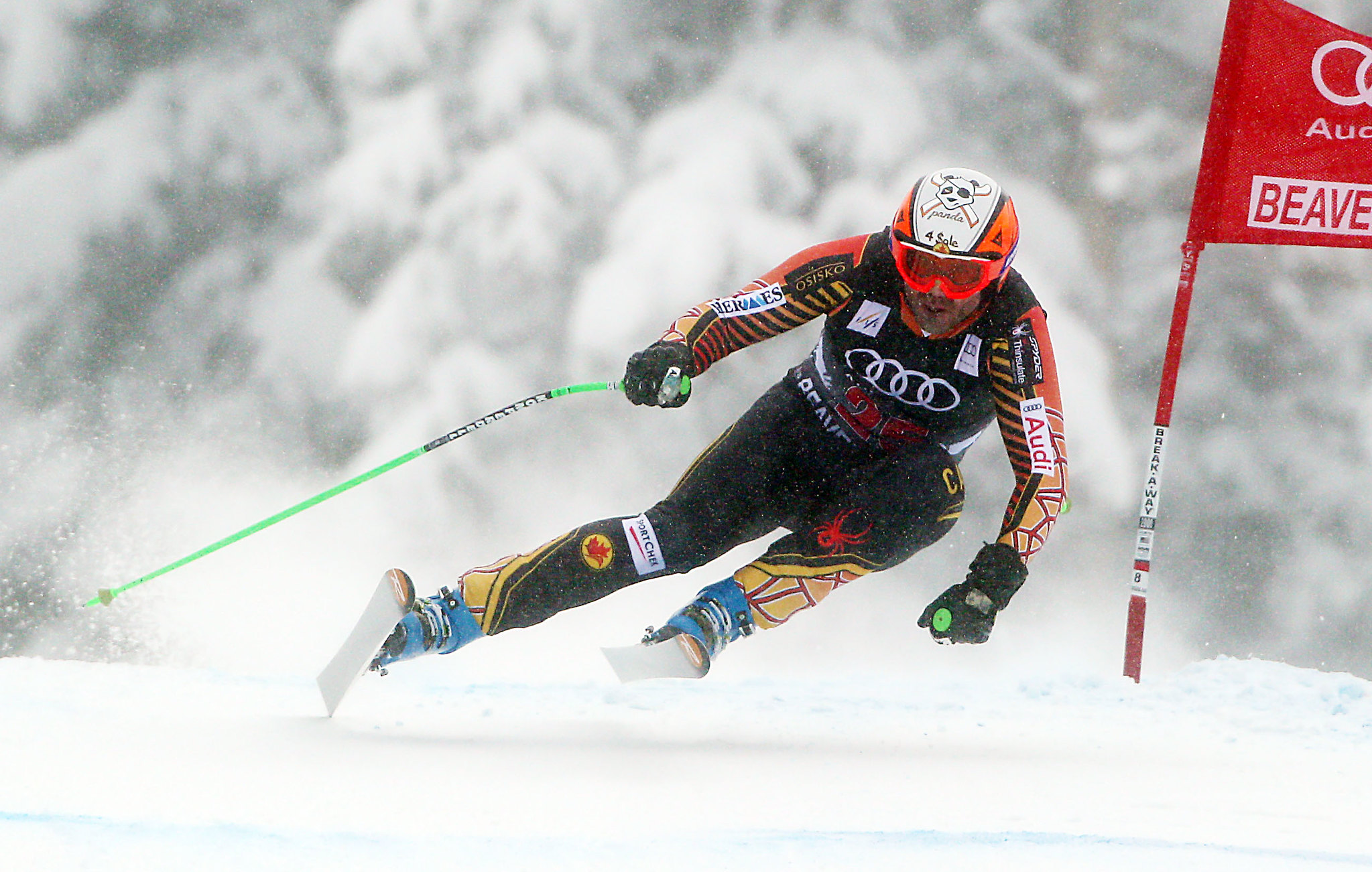 Jan Hudec speeds his way to a 7th place finish at the FIS Alpine World Cup in Beaver Creek, USA