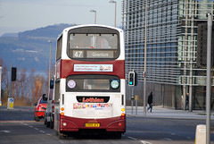 This bus was new to Lothian Buses as 772 in 2006, Seen here on a cold sunny day at West Granton....