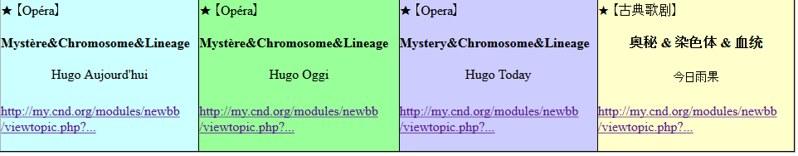 {【歌剧】 《奥秘 & 染色体 & 血统》 | 【Opéra】 《Mystère & Chromosome & Lineage》}