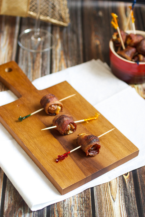 Bacon Wrapped Goat Cheese Stuffed Figs
