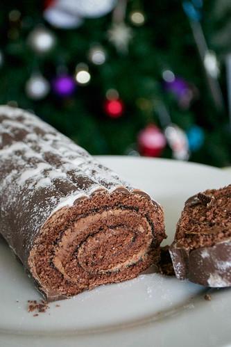 christmas yule log