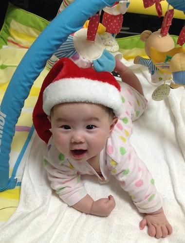 孫娘(5ヶ月)のクリスマス 2013年12月22日 by Poran111