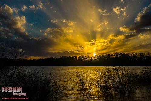 sunset sky lake reflection nature water clouds georgia unitedstates gainesville lakelanier hallcounty thesussman sonyslta77 sussmanimaging