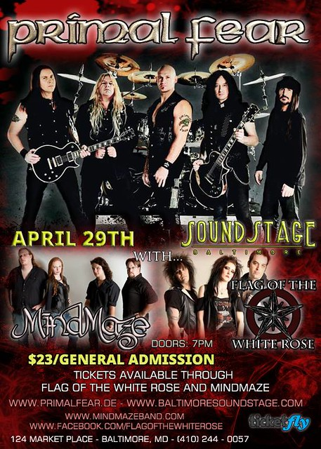 Primal Fear at the Baltimore SoundStage