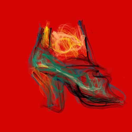 """Zapato de dama para un día de calor"" by Mirta Noemí Cameán"