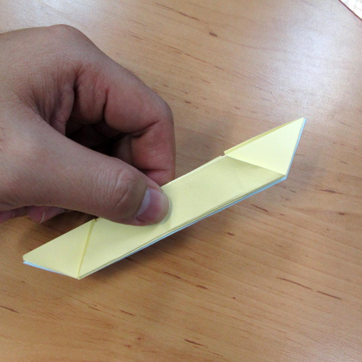 วิธีการพับกระดาษเป็นดอกบัวแบบแยกประกอบส่วน 015