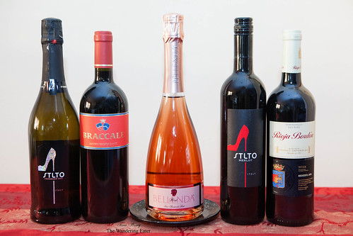 Various Italian wines