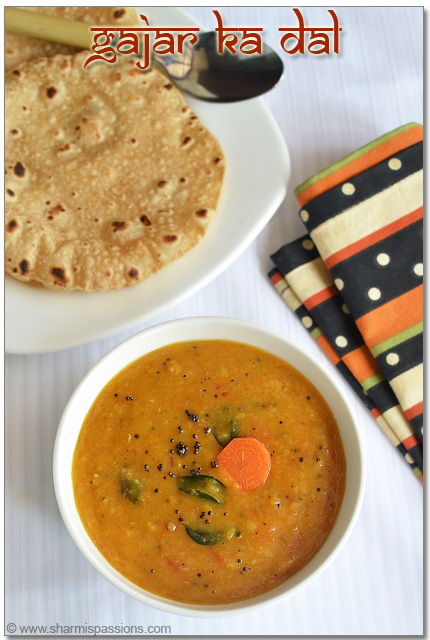 Carrot Dal Tadka