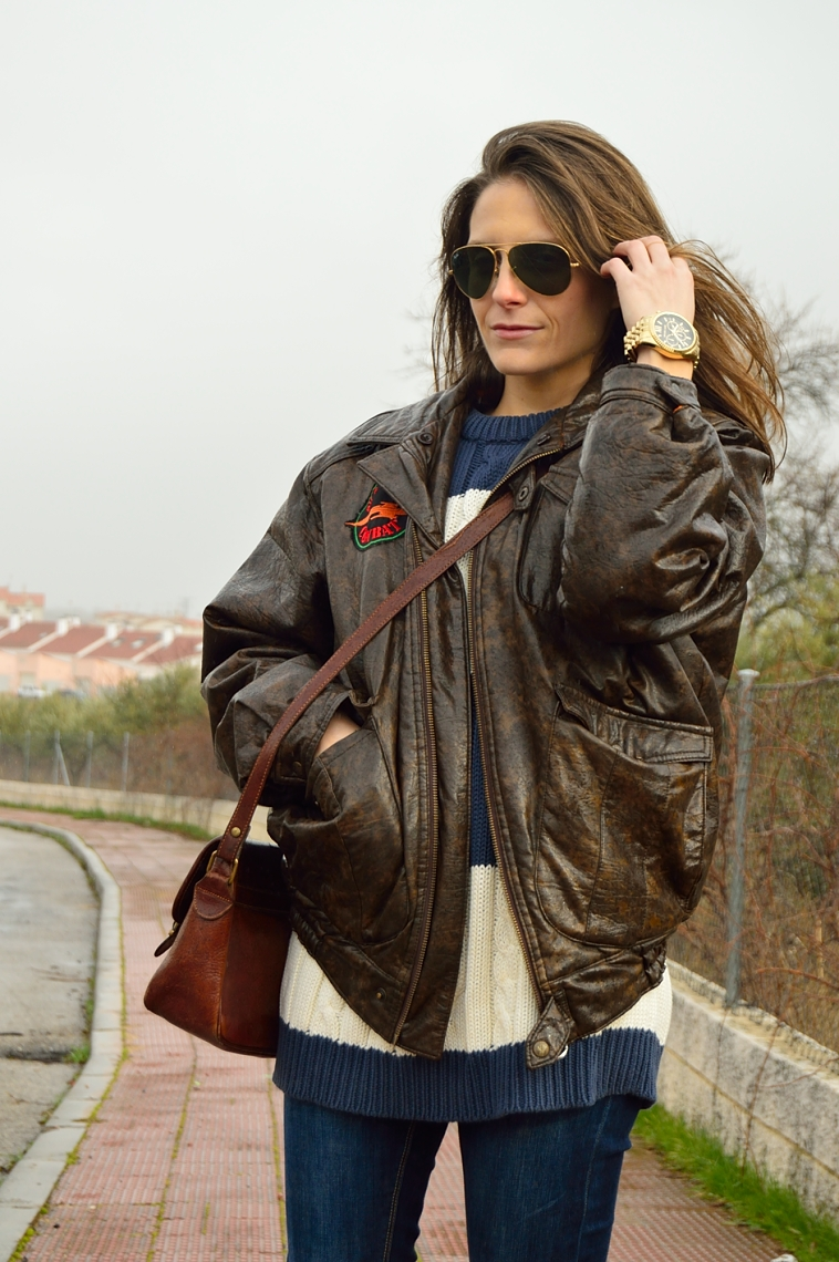lara-vazquez-madlula-blog-aviator-mood-vintage-brown-leather-jacket