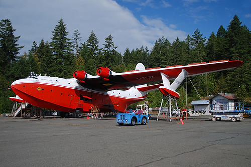 Martin Mars Bomber at Sproat Lake, Port Alberni, Vancouver Island, British Columbia