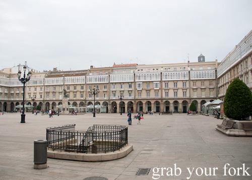 Maria Pita Square, A Coruna, Galicia, Spain