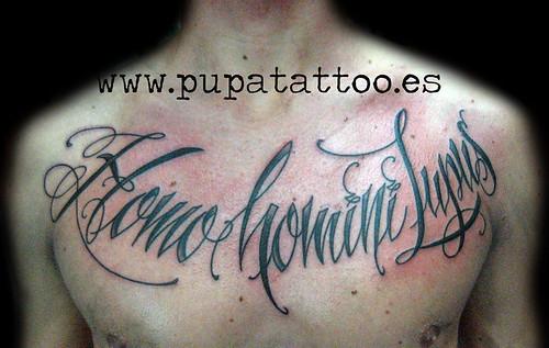 Tatuaje letras Pupa Tattoo, Granada by Marzia PUPA Tattoo