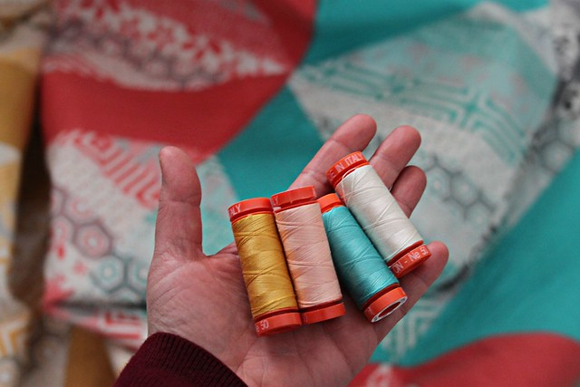 From Pat Bravo's Aurifil Thread Collections!