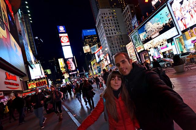 En Times Square!