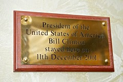Photo of Bill Clinton bronze plaque