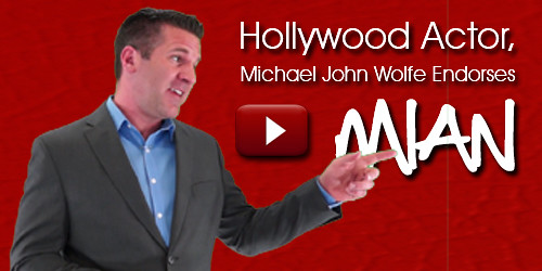 Hollywood Actor, Michael John Wolfe Endorses Mian Mohsin Zia