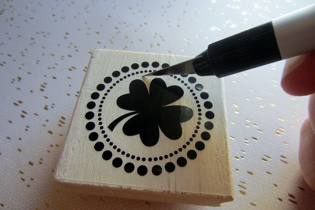 customize store-bought rubber stamps (tutorial)