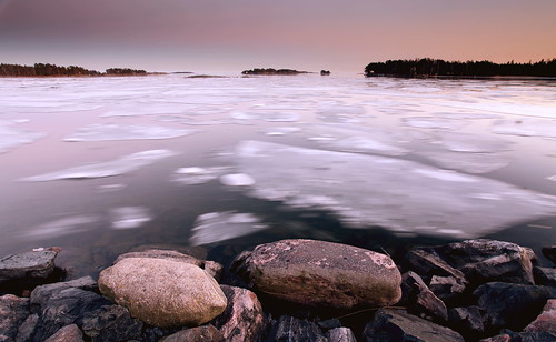 winter sunset ice rock strand canon finland landscape spring helsinki long exposure dusk raft 1740 aurinkolahti