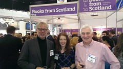 Prof. Dr. Christoph Bläsi with Edinburgh Napier Publishing team