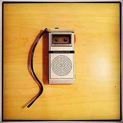 My old Olympus Pearlcorder-S mini tape recorder finally died. Goodbye buddy. #tbt #throwback #throwbackthursday