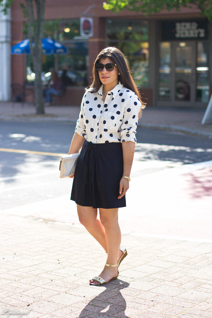polka dot blouse, navy skirt-1.jpg