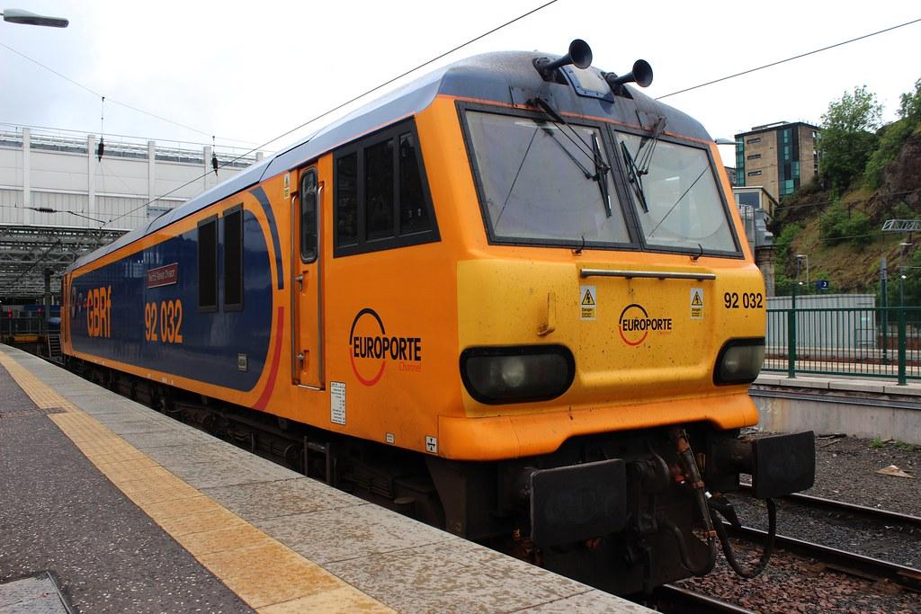 Class 92: 92032 GBRf Edinburgh Waverley