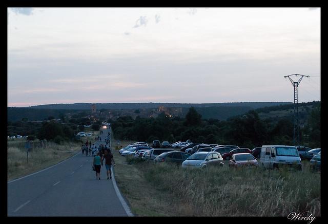 Noche velas Pedraza fotografías - Caminando hacia Pedraza