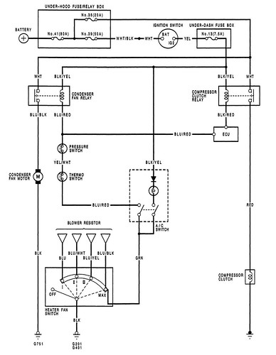 K6 冷氣系統迴路圖
