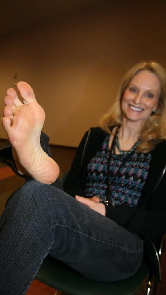 Mature womens foot