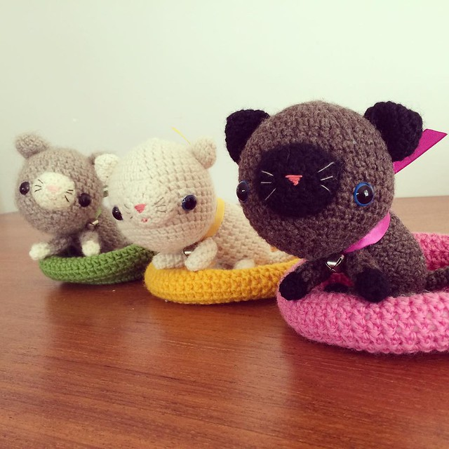 Three little kittens have lost their mittens #crochet #amigurumi #kitten