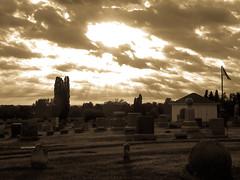 Urbana Cemetery at Sunset