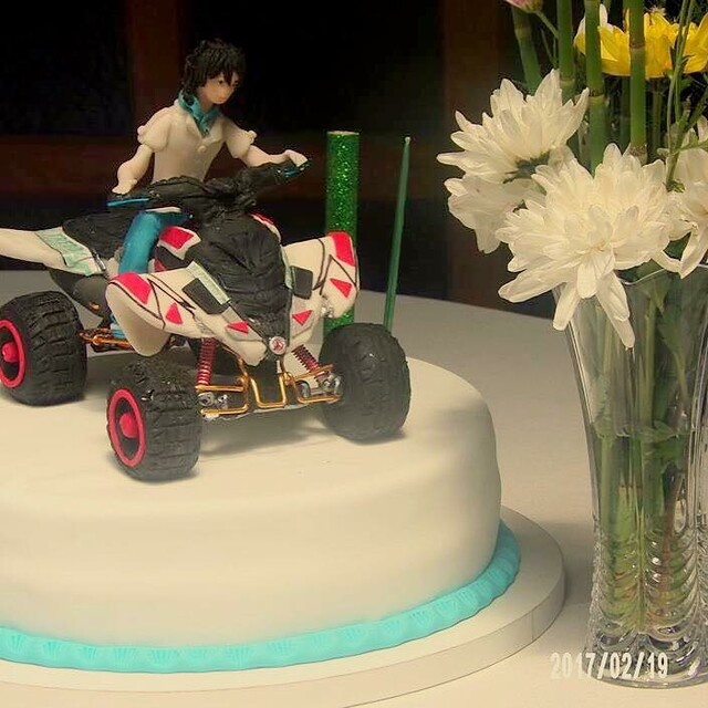 Quadricycle Raptor Cake by Marina Silvia Rothhuber of Silvycakes