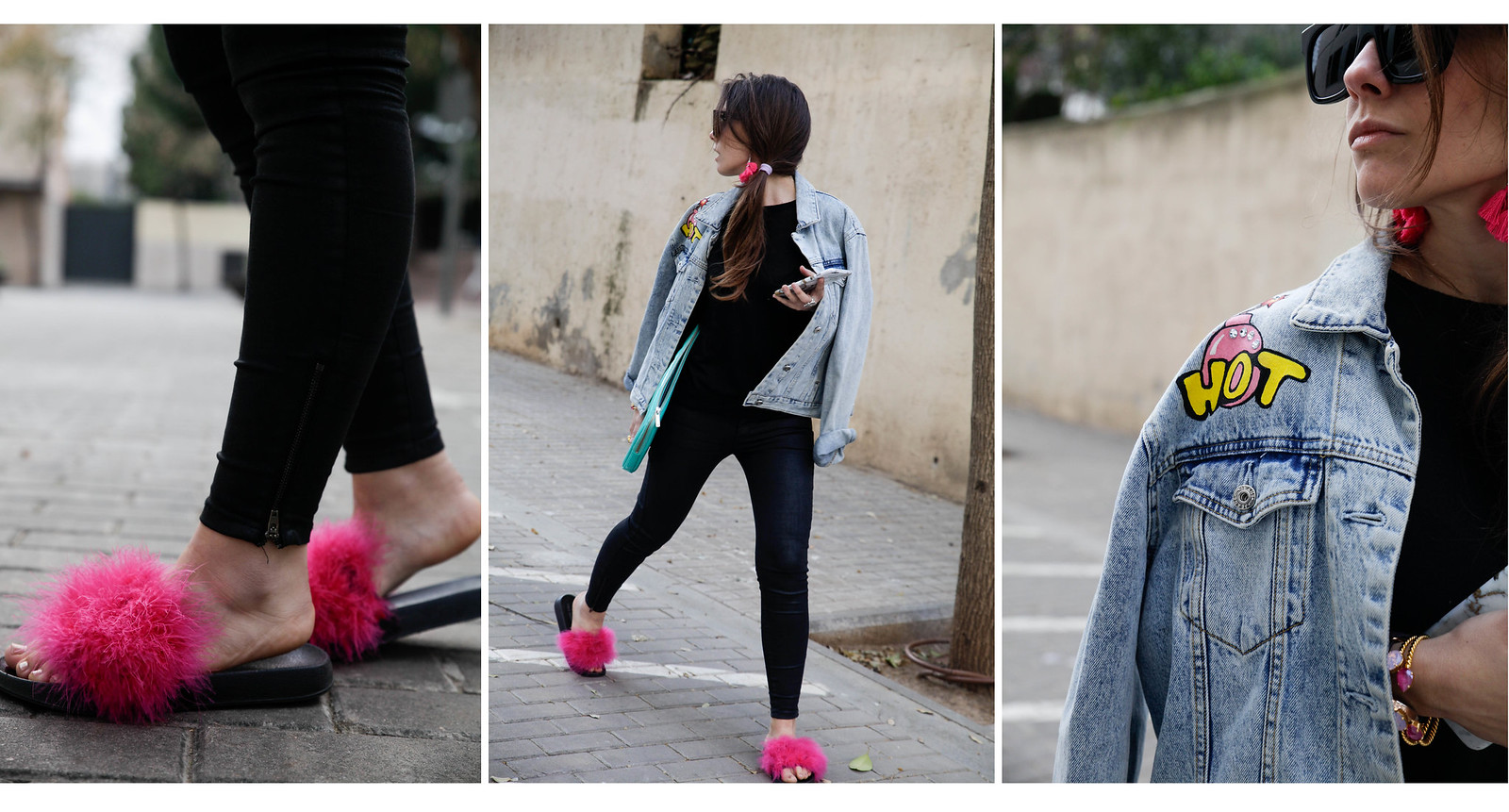 08_black_look_with_pink_fluffy_sandals_theguestgirl_laura_santolaria_noholita_dulceida_collagevintahe_sincerlyjules