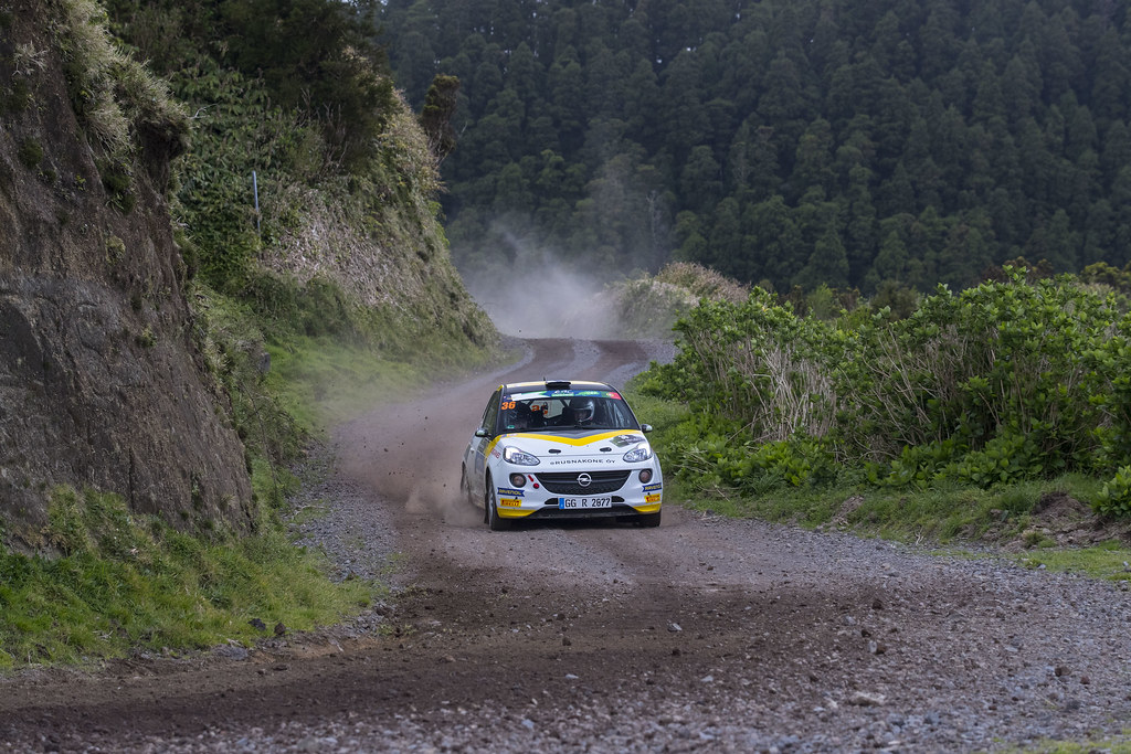 36 HUTTUNEN Jari  LINNAKETO Antti Opel Adam R2 Action during the 2017 European Rally Championship ERC Azores rally,  from March 30  to April 1, at Ponta Delgada Portugal - Photo Gregory Lenormand / DPPI