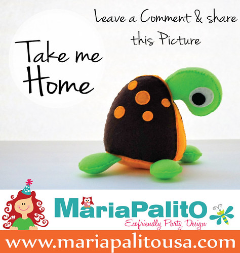 GIVEWAY !!! Win a Eco-friendly felt turtle plush toy by Mariapalito