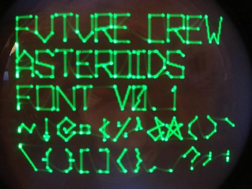 Asteroids vector font