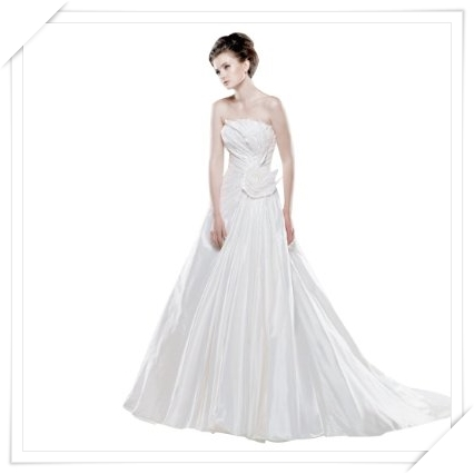 GEORGE BRIDE New Designer Strapless Taffeta Wedding Dress