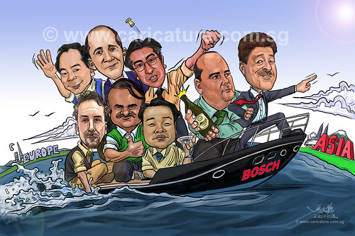 digital group caricatures for Bosch