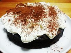 Flourless Chocolate Cake with Sweet Cream