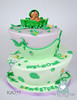 R8055-purple-green-peapod-baby-shower-cake-toronto-oakville