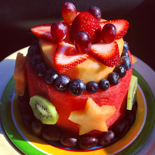 I Made Myself A Fruit Cake For My Birthday It Was Big