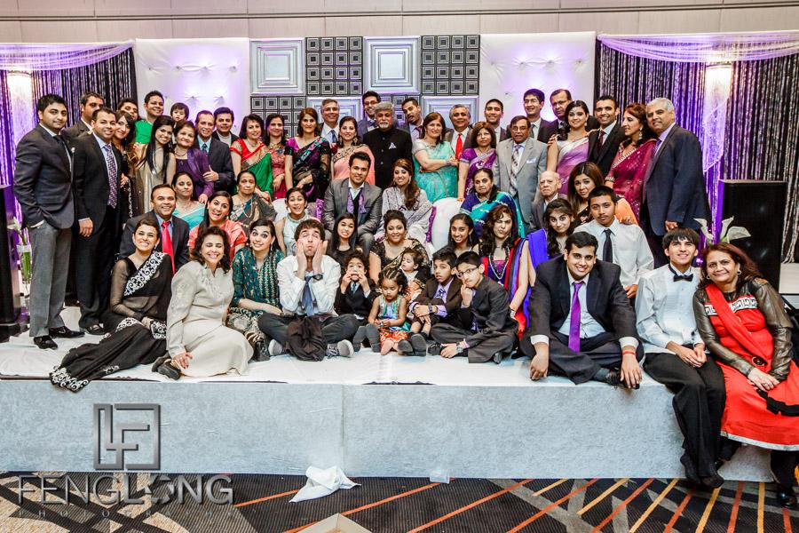 Family photo at Atlanta Ismaili Indian wedding