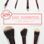 Chic cosmetics 7 piece brush set review