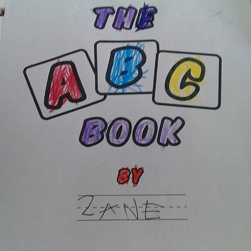 Zane's summer project to practice his writing #zanesABCbook