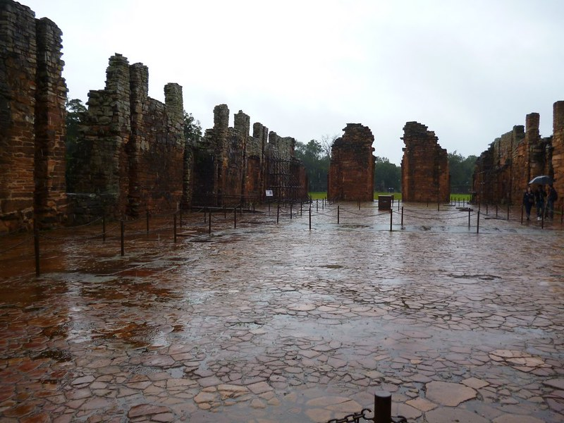 San Ignacio Miní in the rain