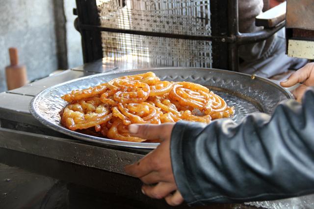 A fresh platter of jalebis