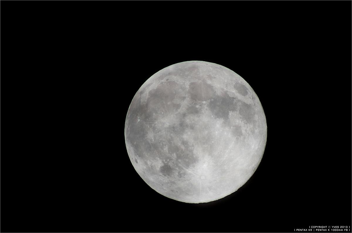 2013超級月亮 10mmVS1000mm