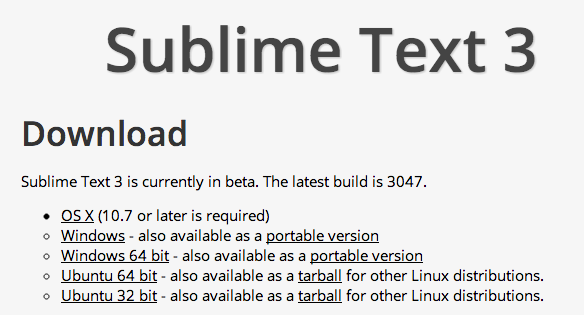 Sublime Text 3 Download