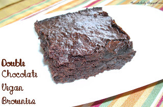 Double Chocolate Vegan Brownies from The Cake Baby