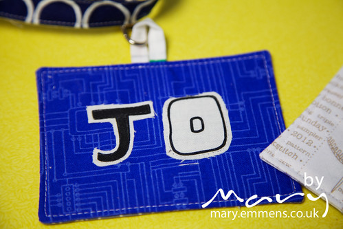 Jo's name badge